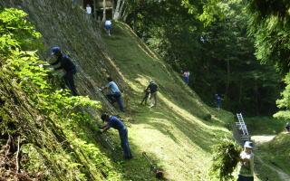 岩村城跡清掃整備作業