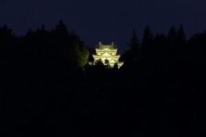 幻の霧ケ城(夜)ライトアップ